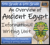 Ancient Egypt - Informational Text Writing Activity