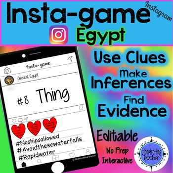 Ancient Egypt Instagram Activity (Editable) Insta-game