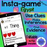 Ancient Egypt Activity-Instagram (Editable Insta-game)