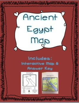 Ancient Egypt Interactive Map By Hannah Meadows TpT - Egypt interactive map