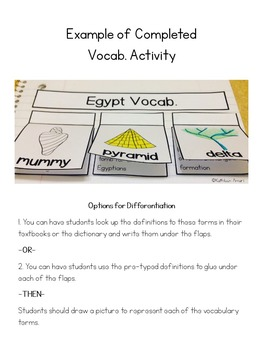 Ancient Egypt-Interactive Notebook Activities
