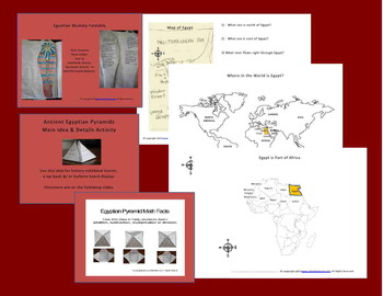 Ancient Egypt Interactive Notebook & More (5th - 8th Grades)
