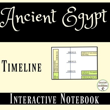Ancient Egypt Interactive Notebook Timeline Activity or Co