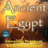 Ancient Egypt Interactive Notebook and Lapbook Activities with Test Prep Passage