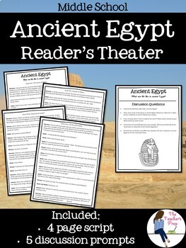 Ancient Egypt INB, Task Cards, 3D Pyramid, Skit and Test Bundle