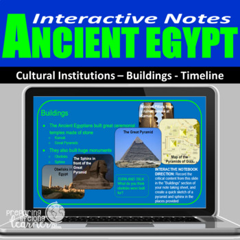 Ancient Egypt Interactive Notes to Use With Google Slides