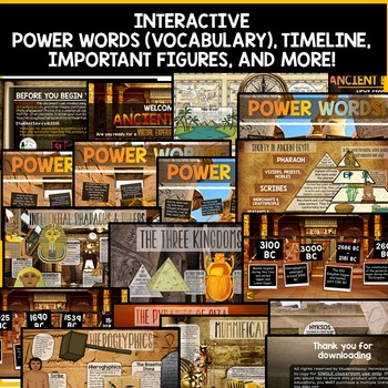Ancient Egypt PowerPoint Interactive