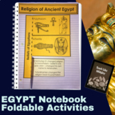 Ancient Egypt Interactive Student Notebook Foldables