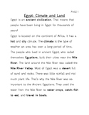 Ancient Egypt Interactive Study Notes