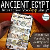Ancient Egypt  Vocabulary | Interactive VocAPPulary™ | Dis