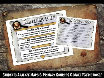Ancient Egypt Investigation History Lesson Stations or Presentation