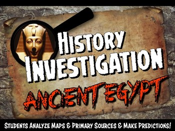Ancient Egypt Investigation History Lesson Stations or Pre