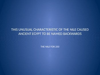 Ancient Egypt Jeopardy Game
