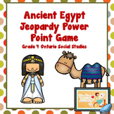 Ancient Egypt Jeopardy Game- Ontario Grade 4