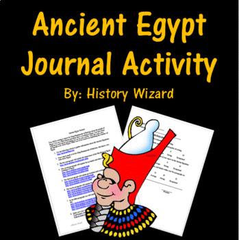 Ancient Egypt Journal Activity