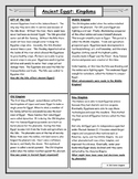 Ancient Egypt: Kingdoms Reading and Worksheet
