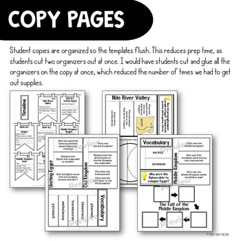 Ancient Egypt & Kush Interactive Notebook Unit 6th Grade INB