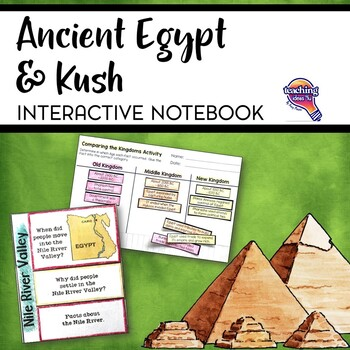 Ancient Egypt & Kush Interactive Notebook Unit 6th Grade INB