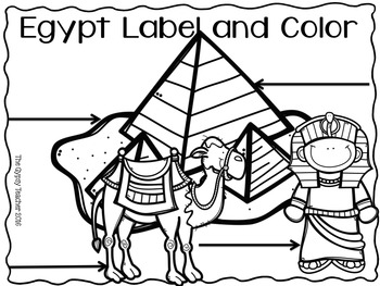 Ancient Egypt Label and Color