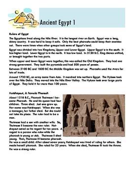 Ancient Egypt Leveled Reader