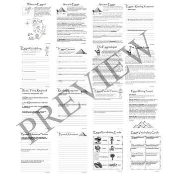Ancient Egypt Activity Packet