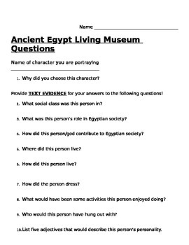 Ancient Egypt Living Wax Museum
