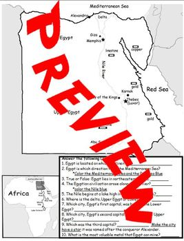 Ancient Egypt Map with PowerPoint