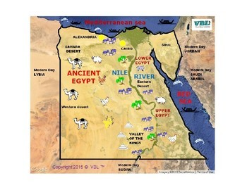 Ancient Egypt Map By Visual Brand Learning Teachers Pay Teachers - Egypt map