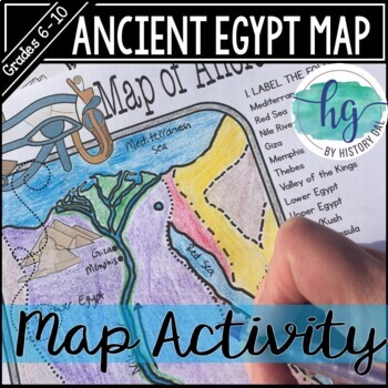 Ancient Egypt Map Worksheets Teaching Resources TpT