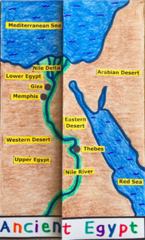 Ancient Egypt Map Foldable