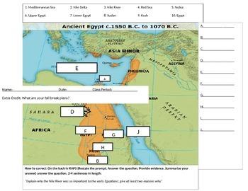 Ancient Egypt Map Quiz
