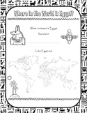 Ancient Egypt Map Worksheets