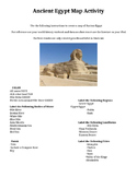 Ancient Egypt Mapping Activity