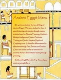 Ancient Egypt Menu