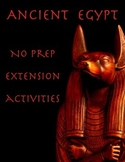 Ancient Egypt: 16 Activities for Fast Finishers (No Prep Required)