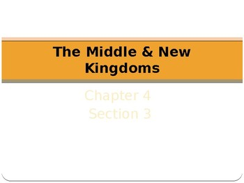 Ancient Egypt Middle and New Kingdoms