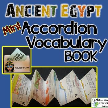 Ancient Egypt Activities-Vocabulary Mini-Accordian Book