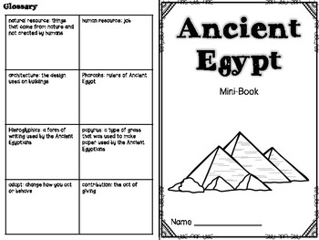 Ancient Egypt Mini Book