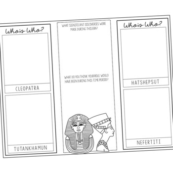 ANCIENT EGYPT Research Brochure Template, World History Project