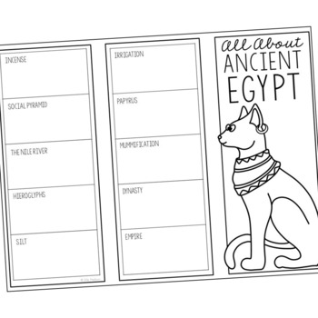 ancient egypt research brochure template world history project