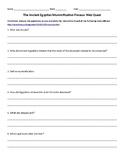 Ancient Egypt Mummification Web Quest Worksheet