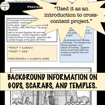 Ancient Egypt Mythology Station Activities for Ancient Egypt Religion
