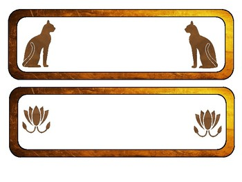 Ancient Egypt Name Tags or Bulletin Headers