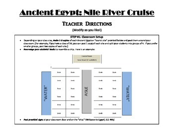 Ancient Egypt: Nile River Cruise Class Activity