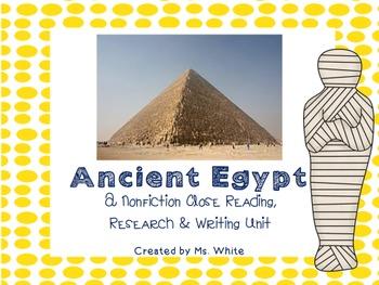 Ancient Egypt: Nonfiction Close Reading {Passages, Vocabul