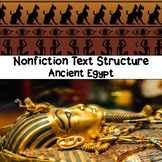 Ancient Egypt Nonfiction Text Structure Passages