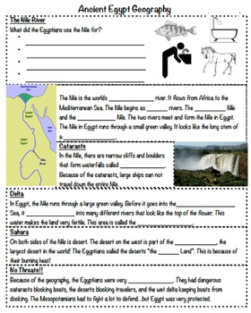 Ancient Egypt Notes PT 1 (Geography)