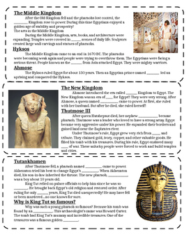 Ancient Egypt Notes PT 4 (to go with PPT 4)