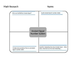 Ancient Egypt Number System Graphic Organizer