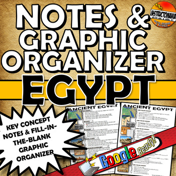 Ancient Egypt One Page Notes & Graphic Organizer